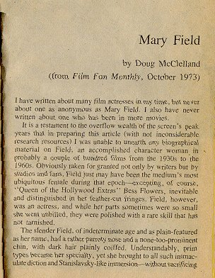 Mary Field - The Real Star